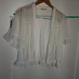 H&M Silky White Cardigan